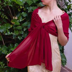 b461b93d4895 Luxury Chiffon wrap shawl bolero Winter wedding shrug elegant 200 cm burgundy  Raspberry wine red pink