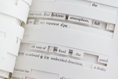 Texto / Lector. Tree of Codes - Jonathan Safran Foer http://www.visual-editions.com/our-books/tree-of-codes