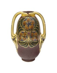 View Vase with two Handles by Zsolnay Co. Browse upcoming and past auction lots by Zsolnay Co. Ceramic Pottery, Pottery Art, 10 Picture, Global Art, Tile Art, Art Market, Hungary, Inventions, Art Nouveau