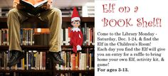 Holiday Contest at the Utica Public Library - Elf on a BOOK shelf, Dec. 2013