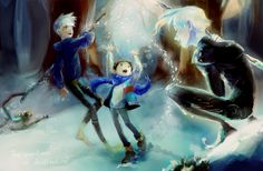 Guardians of Childhood, Jack Frost, Nightlight Dreamworks Animation, Disney And Dreamworks, Disney Pixar, Jackson Overland, William Joyce, Guardians Of Childhood, Jack And Elsa, Rise Of The Guardians, The Big Four