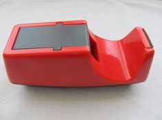 RETRO Red Tape Dispenser 1950s WAY COOL by jarene6906 on Etsy, $14.00