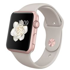Apple Watch Sport - Caja de 42 mm de aluminio en oro rosa y correa deportiva en color piedra - Apple (ES)