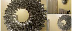 DIY decoracion de espejos con cucharas
