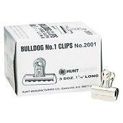 "X-ACTO® Nickel-Plated, 7/16"" Capacity, 1-1/4""w, Bulldog Clips - 36 Per Box"