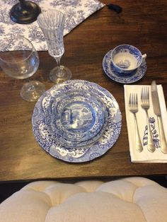 Spode Blue Italian Place Setting