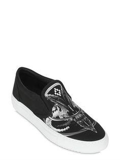 Aurora Printed Canvas Slip-On Sneakers