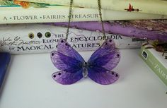 Midnight Purple Butterfly  Gossamer by JustAsStrangeAsIAm on Etsy