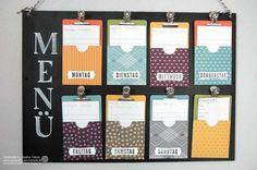wochen essensplan basteln mit papier pappe pinterest. Black Bedroom Furniture Sets. Home Design Ideas