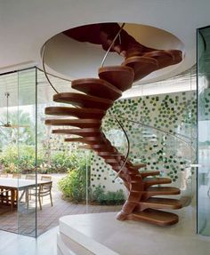 Creative spiral staircase for your decoration room. Make more cool ideas trough your house. This spiral staircase decorating ideas maybe c. Luxury Staircase, Modern Staircase, Staircase Design, Spiral Staircases, Winding Staircase, Wood Staircase, Stair Design, Attic Stairs, Attic Loft