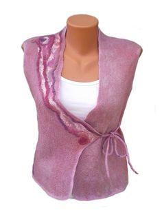 Merino Wolle Weste, Weste Wolle, Filz, Bekleidung, Damenmode, europäischen Stil, Mode, Seide, Filz