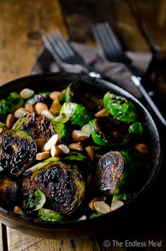 ... brussels sprouts with toasted almonds and balsamic brussels sprouts