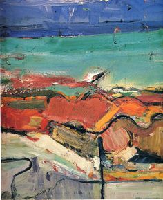 Berkeley by Richard Diebenkorn. Abstract Expressionism. abstract 1955 oil on canvas