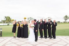 Wedding party photos can be so much fun! #PGAweddings Brian + Aileen Photo By Thompson Photography Group