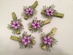 Package Toppers, Card Holders, Bag Closers, Banner Pins with a Floral Spray by CraftStuffDepot