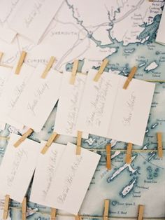 Wedding Ideas: map-wedding-escort-cards