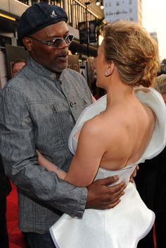 "Scarlett Johansson and Samuel L. Jackson Photos: Premiere Of Paramount Pictures & Marvel Entertainment's ""Iron Man 2"""