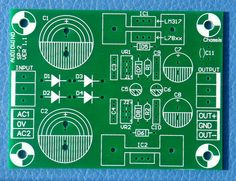 Voltage Regulator PCB, for LM317 / LM337 or L78xx series / L79xx series IC.