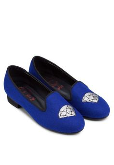 SPUR Diamond Embroidered Loafers 刺繡平底船鞋