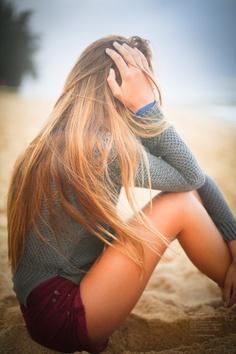 long blond hair.