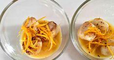 Saint-jacques à l'orange. Orange et saint-jacques pour une entrée festive et acidulée. La recette par Chef Simon.