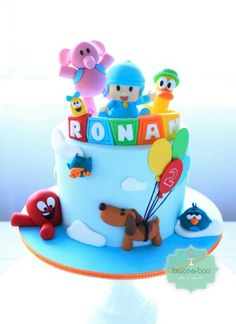 Bake a boo Baby Boy 1st Birthday Party, Baby Birthday Cakes, 3rd Birthday Parties, Baby Party, Birthday Fun, Cake Pocoyo, Bake A Boo, Friends Cake, Baby Shower Cakes