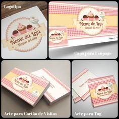 Logotipo / Identidade Visual para Confeitaria. Veja outras artes disponíveis em nosso site: http://www.ateliefloradg.com.br/