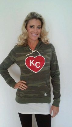 Kansas City Camo Heart Hoodie