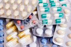 Medical supplies, pills and capsules Royalty Free Stock Photo