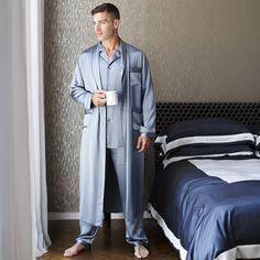 Discover the Gingerlily Men's Silk Pyjamas - Grey at Amara