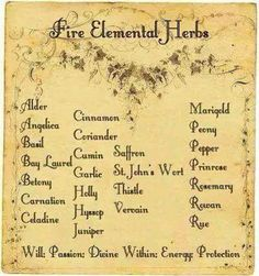 Fire #Magic #Witch #Pagan #Fire #Herbs #Natural #Apothecary #Elements