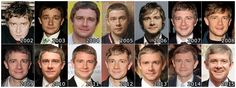 The Evolution of : Martin Freeman  No matter how old he is Martin's just an adorable little hedgehog