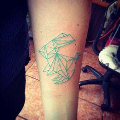 Geometric bunny tattoo, rabbit tattoo