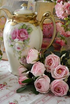 "Chocolate Pot and Roses -- Living Life in a Simpler Time (You had me at ""chocolate pot"")"