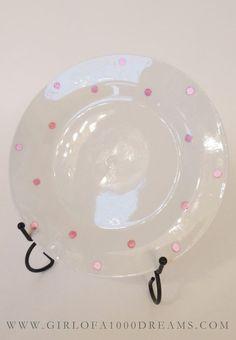 Kate Spade inspired diy plates