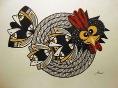 Poster oder Leinwandbild Anowi Verrücktes Huhn 2 324-00169-3