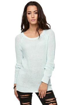 LA Hearts Marled Raglan Pullover Sweater #pacsun