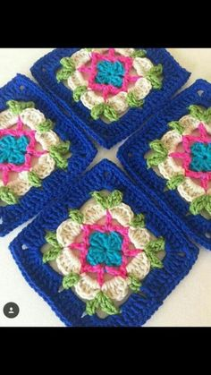 This post was discovered by Hkn. Discover (and save!) your own Posts on Unirazi. Crochet Square Blanket, Crochet Blocks, Granny Square Crochet Pattern, Crochet Squares, Crochet Motif, Crochet Baby, Free Crochet, Granny Squares, Crochet Granny