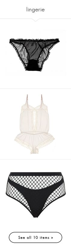 """""""lingerie"""" by hautediorhoe ❤ liked on Polyvore featuring intimates, panties, underwear, lingerie, undies, sexy lingerie, transparent panties, see through panties, sexy see through lingerie and sheer lingerie"""