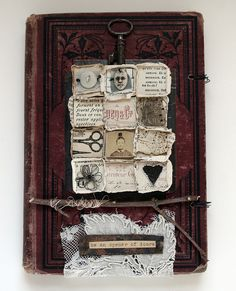 Rebecca Sower's fabric art journals are amazing and so inspiring.