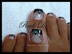 pedicure by Radi D Pedicure Designs, Pedicure Nail Art, Toe Nail Designs, Toe Nail Art, Nail Manicure, Diy Nails, Pretty Toe Nails, Pretty Toes, Cute Nails