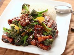 Vegan Crispy Stir-Fried Tofu With Broccoli--substitute water with a squeeze of lime juice for the 1/2 cup vodka.