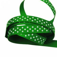 The Party Cupboard : 9mm Emerald Green Polka Dot Grosgrain Ribbon : Emerald Green Polka Dot Party Ribbon : Emerald Green Polka Dot Giftwrap Ribbon : Emerald Green Polka Dot Ribbon $0.50 / m  (The Party Cupboard) www.thepartycupboard.com.au