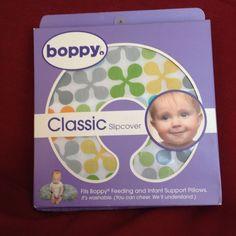 NEW BOPPY CLASSIC SLIPCOVER Jacks Pattern 3100469 Green Yellow Gray Orange White #Boppy #BoppySlipCover #BoppyCover