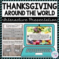 Thanksgiving Around the World Interactive Google Slides™ Presentation For upper elementary and middle school students! #4thgrade #5thgrade #6thgrade #7thgrade #8thgrade Thanksgiving activities that are perfect during distance learning or in the classroom! #socialstudiesactivities