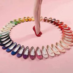 Ballet flats in multi colors, very comfortable, fashionable, and saves your back and feet.
