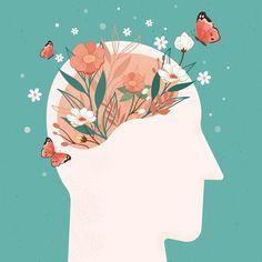 Art And Illustration, Graphic Design Illustration, Cute Wallpaper Backgrounds, Cute Wallpapers, Mental Health Art, Psychology Programs, Brain Art, Art Images, Aesthetic Wallpapers