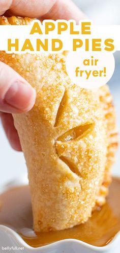 Air Fryer Recipes Dessert, Air Fryer Oven Recipes, Air Fry Recipes, Apple Recipes, Cooking Recipes, Fall Recipes, Apple Hand Pies, Fried Apple Pies, Fried Pies