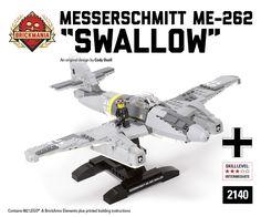 Brickmania - Messerschmitt Me-262 Swallow, $290.00 (http://www.brickmania.com/messerschmitt-me-262-swallow/)