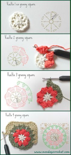 Transcendent Crochet a Solid Granny Square Ideas. Inconceivable Crochet a Solid Granny Square Ideas. Granny Square Crochet Pattern, Crochet Blocks, Crochet Diagram, Crochet Round, Crochet Squares, Love Crochet, Crochet Granny, Crochet Motif, Crochet Flowers